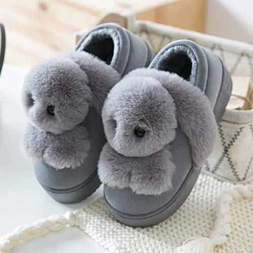 Hiver Femelles 40 coréenne Fond Couleur Cheveux épais et 39 Pantoufles Pantoufles Coton intérieur Version Belle Taille Pantoufles A D Automne de de TD zxwq0F1OFI