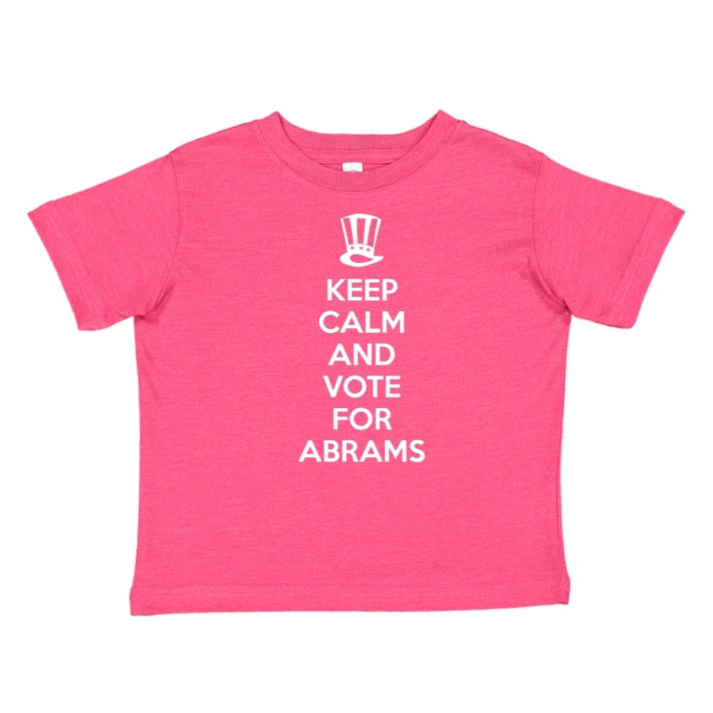 Keep Calm /& Vote for Abrams Presidential Election 2020 Toddler//Kids Short Sleeve T-Shirt