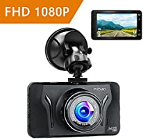 Mibao Dash Cam Dashcam 1080p Car Cameras with Recorder 3.0 Inch LCD Dash Camera 170°Wide Angel G-Sense, WDR, 6GLens, Loop Recording, Motion Detection, Parking Monitoring