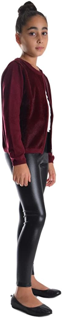 Dinamit Jeans Girls Shiny Metallic Color Elastic Leggings