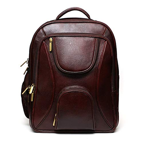 ACEKING Leather Laptop Backpack Bag For Men Office Use With Upto 16 Inches Laptop Compartment Bagpack Bag Unisex Color