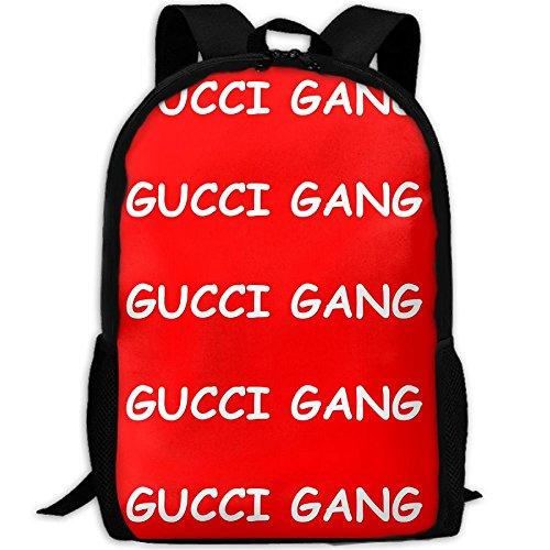64fcbedeb KAGN LIL PUMP GUCCI Gang LOGO Fashion Backpack College Daypacks For Unisex
