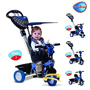 Smart Trike Dream Touch Steering 4 in 1 Children Tricycle Blue