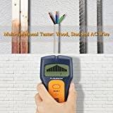 4 pic pipe - FLY5D 3 In 1 Wire Metal Wood Detectors Stud Finder Sensor Wall Scanner AC Voltage Live Wire Cable Finder Detect Behind Wall LCD Display