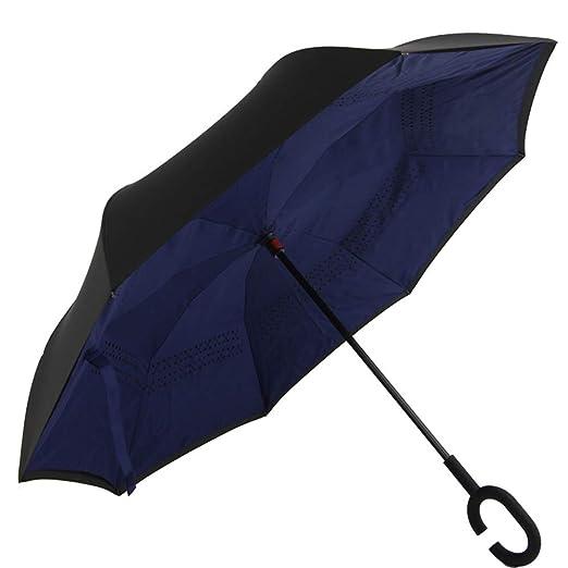 Paraguas Compacto y a Prueba de Viento Que Abre y Cierra ...