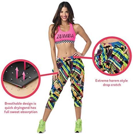 Zumba Capri Pantalon Harem de Entrenamiento Fitness Mallas de Deporte de Mujer 5