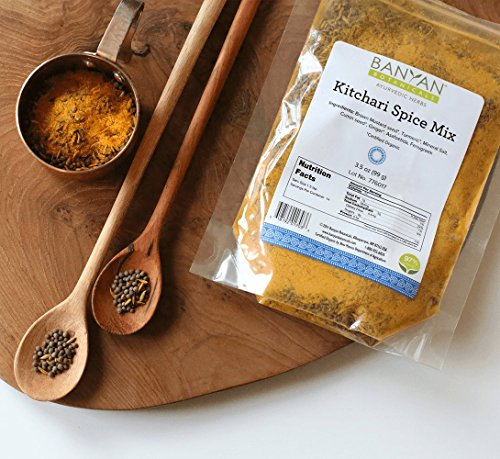 Banyan Botanicals Kitchari Spice Mix - 97% Organic - Ayurvedic Spices to Stimulate Digestion - Made in USA (3.5 oz) - incensecentral.us