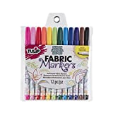Tulip Fabric Markers Fine Tip 12pk