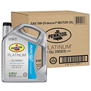 Pennzoil 550038111 3pk platinum sae 0w 20 full for Sae 0w 20 synthetic motor oil