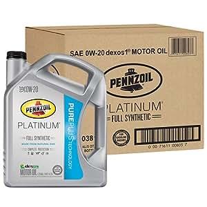 Pennzoil 550038111 3pk platinum sae 0w 20 full for Pennzoil full synthetic motor oil