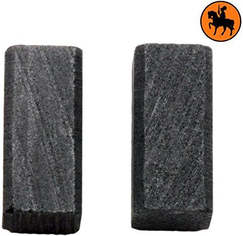 6,3x6,3x13,5mm Balais de Charbon pour BLACK /& DECKER P2270 2.4x2.4x5.1