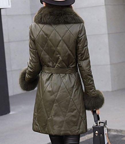 Chaqueta Chaqueta Cuero Damen De Gruesa E Femenina Invierno Caliente Winterparka La Chaqueta De Wintermantel Armygreen Otoño Mantel Sublevel Z8fqwxzz