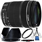 Canon 18-135mm f/3.5-5.6 IS STM Lens (White Box) for Canon Digital SLR Cameras Includes 10PC Accessory Kit - International Version (No Warranty)