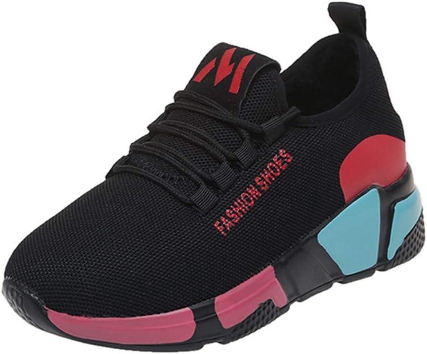 RYTEJFES Zapatos De Punta Redonda para Mujer Zapatos De Moda De Colores Mezclados Zapatillas De Deporte Zapatos para Correr Calzado Deportivo Zapatilla Malla Plataforma: Amazon.es: Hogar