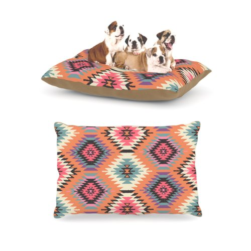 Kess InHouse Amanda Lane ''Southwestern Dreams'' Orange Pink Dog Bed by Kess InHouse