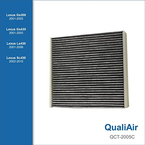 QualiAir QCT-2005C, Activated Carbon Cabin Air Filter for Lexus (1Pack)