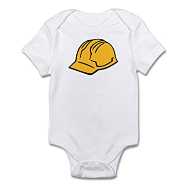 0e7f6a553a3eb Amazon.com  CafePress Hard Hat Construction Helmet Baby Bodysuit  Clothing