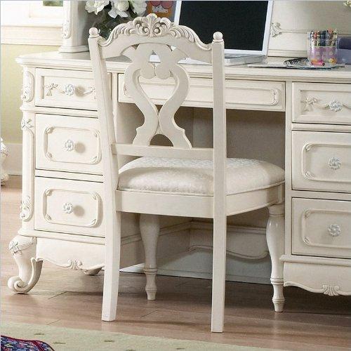 Homelegance Cinderella Writing Desk Chair in Ecru/Off-White