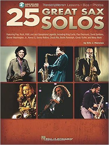 Amazon com: 25 Great Sax Solos Bk Transcriptions Lessons