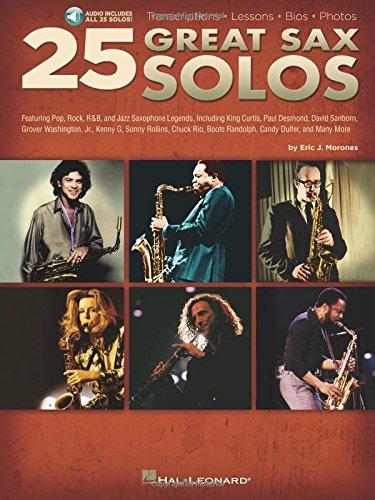 Download 25 Great Sax Solos Bk Transcriptions Lessons Bios Photos Audio Online pdf epub