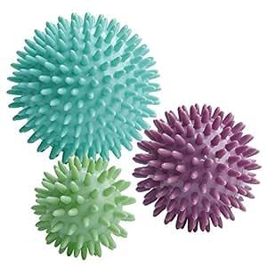 ResultSport Juego de 3 pelotas masajeadoras con pinchos (6, 8 y 10 cm)