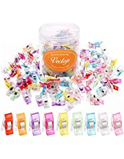 100Pcs Multipurpose Sewing Clips, VECTOP Premium Quilting Clips Sewing Supplies Crafting Accessories Fabric Clips Tools, Multi-Color
