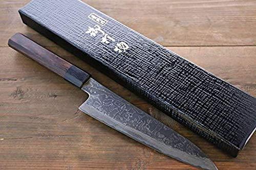 TAKAYUKI IWAI VG10 FUMON SERIES DAMASCUS GYUTO JAPANESE CHEF KNIFE