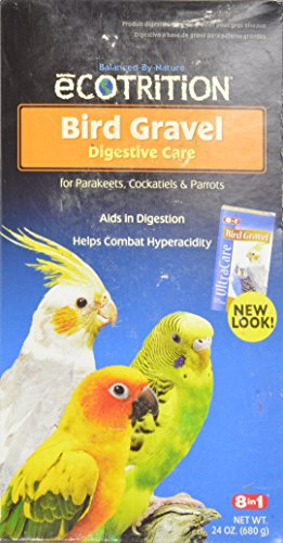 8 In 1 Pet Products eCotrition Bird Gravel for Parakeets, Cockatiels, Parrots, 24-Ounce