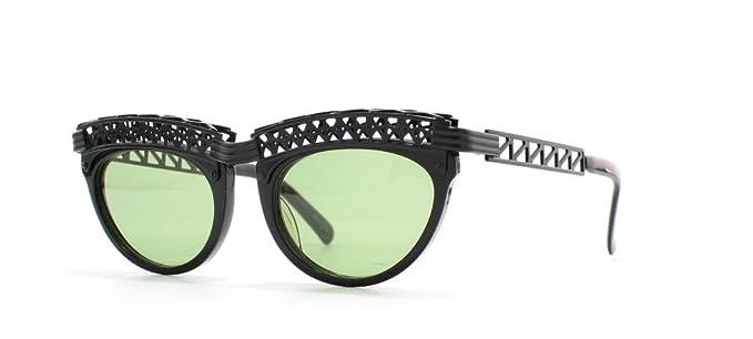 6b1c0433a Jean Paul Gaultier 56 0201 3 Black Authentic Women Vintage Sunglasses