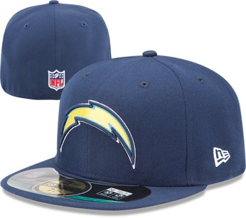 Amazon.com   NFL Mens San Diego Chargers On Field 5950 Navy Game Cap By New  Era   Sports Fan Baseball Caps   Clothing 299161cd7ea
