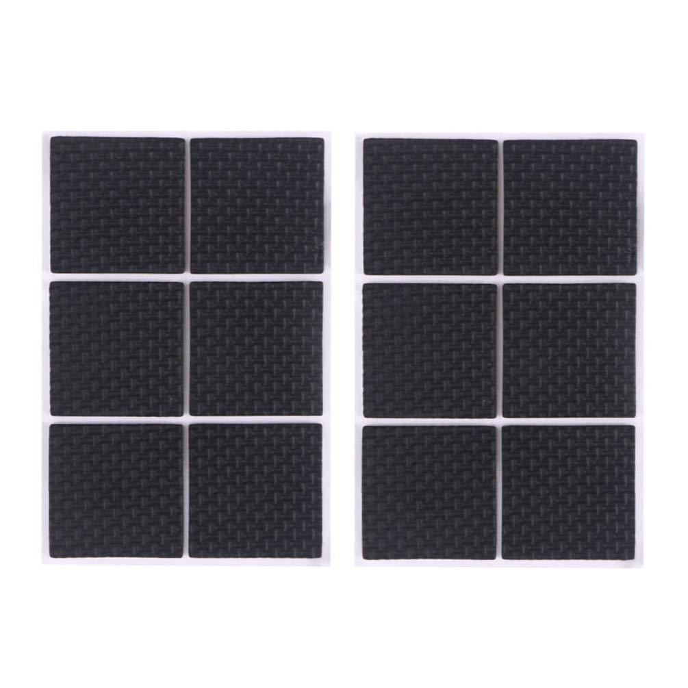 Round Square Shape Self Adhesive, Non-Slip Furniture Pads, Feet Sofa Table Chair Sticky Floor Protector - Square