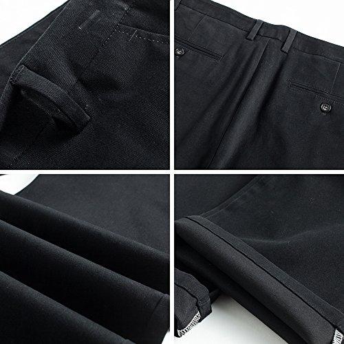 Pantalon Au Droites Harrms Couleurs Style Pour 16 Choix Homme Jambières Casual Droite Des Noir Coupe Avec Uni Hommes rrxqZw7Hf