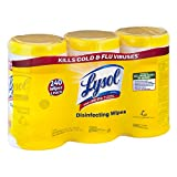 Lysol Disinfecting Wipes Value uBibCh Pack, Lemon & Lime Blossom, 5Pack (240 Wipes)