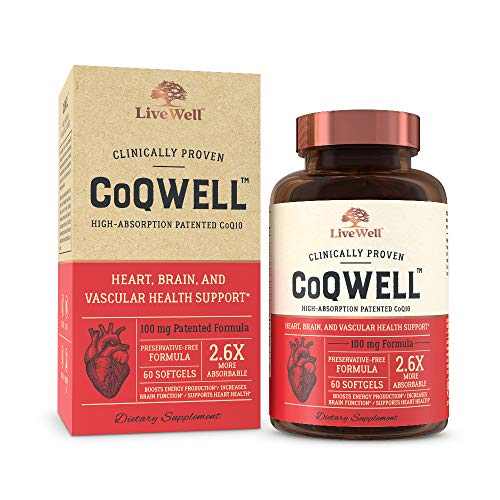 CoQWell Vascular High Absorption Patented Coenzyme
