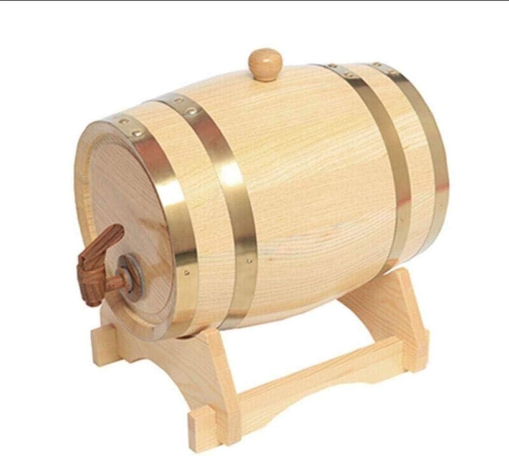 DPPAN 5L 木 酒保存容器 ワイン樽 ワイン貯蔵、木製樽 ウイスキー ビール バーボン テキーラ ラム酒 酢 スピリッツ 保管 レトロの,C