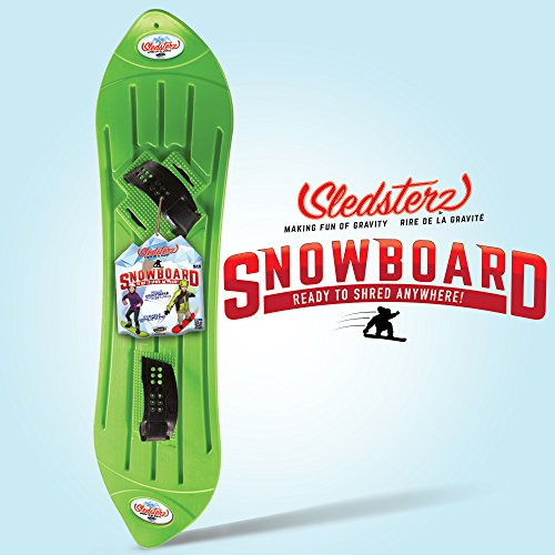 The Original Sledsterz Snowboard by Geospace: Green