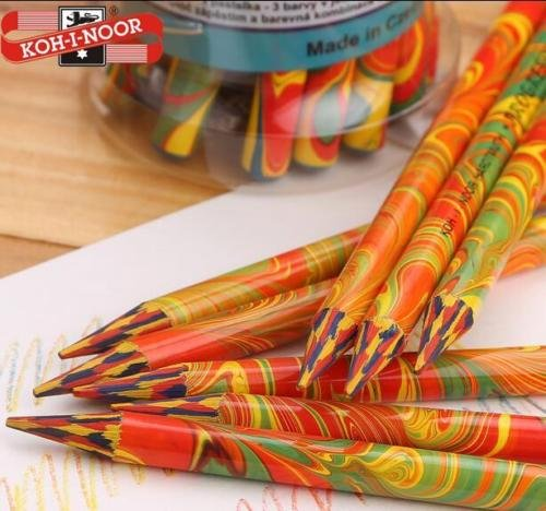 DASARA KOH-I-NOOR Magic Multi Color Rainbow Swirl Colored Pencils Woodless pencil -