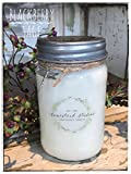 Homestead Studios Blackberry Sage Scented 16oz Mason Jar Candle 100% Soy - Hand Made, Hand Poured, Wood Wick - Made In The USA