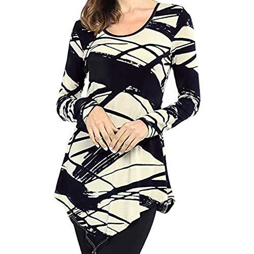 (Todaies Women Blouse Women Fashion O-Neck Blouse Print Long Sleeve Loose Tops T-Shirt Blouse)