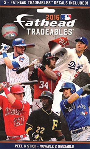 FATHEAD LLC FATH16BBTR 2016 MLB Tradeables 15 Count, Multicolor