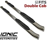 Ionic 'Pro' Series 5' Stainless Curved Nerf Bars 2007-2018 Toyota Tundra Double Cab Only Truck Side Steps (25541200)