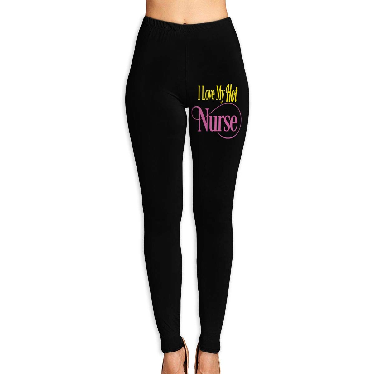 I Love My Hot Nurse Wife Girlfriend High Waist Yoga Pants Tummy Control Workout Running Sports Pants Women's Stretch Yoga Leggings
