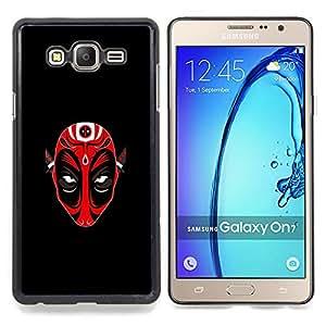 "Qstar Arte & diseño plástico duro Fundas Cover Cubre Hard Case Cover para Samsung Galaxy On7 O7 (Máscara Roja Demen Diablo"")"