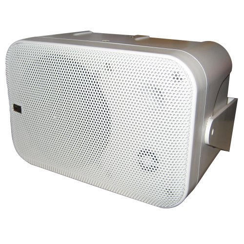 Poly-Planar B0X 200W White Waterproof Full Size Box Speakers Pair by Poly-Planar
