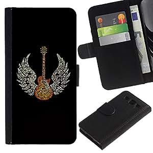 All Phone Most Case / Oferta Especial Cáscara Funda de cuero Monedero Cubierta de proteccion Caso / Wallet Case for Samsung Galaxy S3 III I9300 // Guitar Wings Music Angel