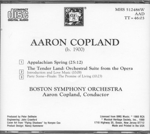 Copland: Appalachian Spring /  The Tender Land : Orchestral Suite from the Opera