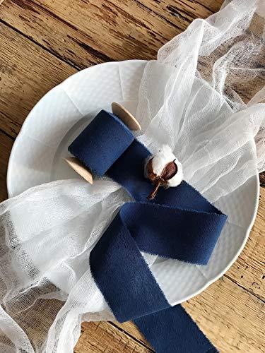 Navy blue cotton ribbon 2'' 5 yards