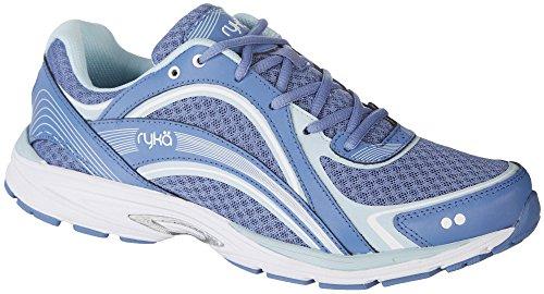 Ryka Women's Sky Walking Shoe, Colony Blue/Soft Blue/Chrome Silver, 8.5 M US