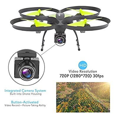 SereneLife FPV Drone with HD Camera and live Video. Headless Mode Quadcopter, Altitude Hold, 1-Key Takeoff/Landing, Bonus Battery, Low Voltage Alarm, Custom Route Mode by SereneLife