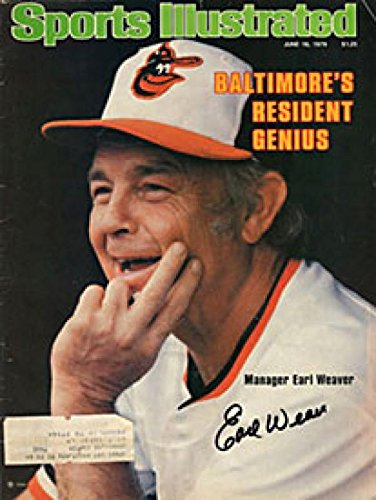 Earl Weaver Photo - Signed Earl Weaver Photo - Sports Illustrated June 18 1979 - Autographed MLB Photos